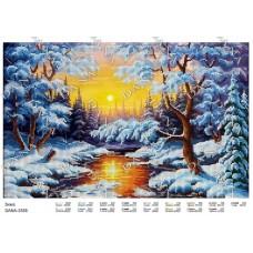 """Схема для вышивки бисером """"Зима"""" (Схема или набор)"""