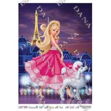 """Схема для вышивания бисером """"Барби в Париже"""" (Схема или набор)"""