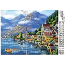 """Схема для вышивки бисером """"Морской городок"""" (Схема или набор)"""