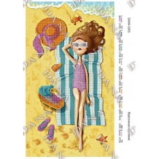 """Схема для вышивки бисером """"Отдых на пляже"""" (Схема или набор)"""