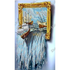 """Схема для вышивки бисером """"Живая Картина (Море)""""Дана-5138 (Схема или набор)"""