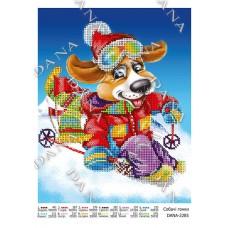 """Схема для вышивки бисером """"Собачьи гонки"""" (Схема или набор)"""