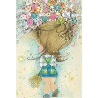 Девочка с букетом цветов
