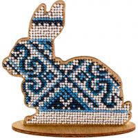 Набор для вышивки бисером по дереву «Кролик FLK-086».