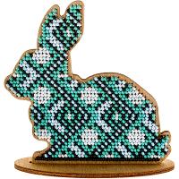 Набор для вышивки бисером по дереву «Кролик FLK-087»