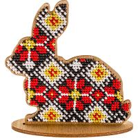 Набор для вышивки бисером по дереву «Кролик FLK-088»