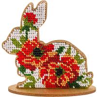 Набор для вышивки бисером по дереву «Кролик FLK-089».