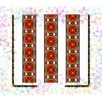 "Схема на водорастворимом флизелине под вышивку бисером  ""Гуцульский орнамент"" (Схема или наюор )"