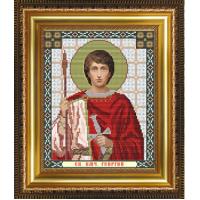 """Схема иконы под вышивку бисером """"Святой Великомученик Георгий Победоносец"""" (Схема или набор)"""
