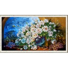 """Панно для вышивки бисером """"Букет из белых роз"""" (Схема или набор)"""
