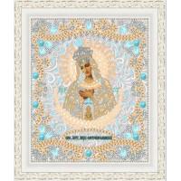 """Икона для вышивки бисером """"Образ Пресвятой  Богородицы  Остробрамская"""" (Схема или набор)"""