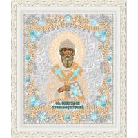 """Икона для вышивки бисером """"Святой Спиридон Тримифунтский"""" (Схема или набор)"""