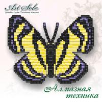 Набор магнит- бабочка для вышивки стразами «Шмель с металлической меткой (Baeotis Zonata)».
