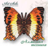 Набор магнит- бабочка для вышивки стразами «Огненный шар (Palla Ussheri)»