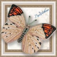 """Набор магнит- бабочка для вышивки бисером """"Гебомоя Главк"""""""