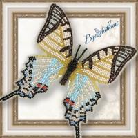 """Набор магнит- бабочка для вышивки бисером """"Парусник Протесилай""""."""