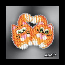 АТМ36. Магнит детский «Коты Неразлучники»