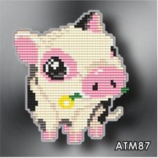 Набор для выкладки пластиковыми стразами детский Магнит «Поросенок» АТМ87.