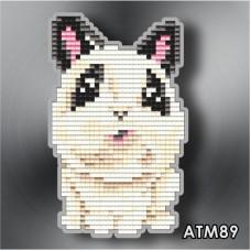 Набор для выкладки пластиковыми стразами детский Магнит «Кролик» АТМ89.