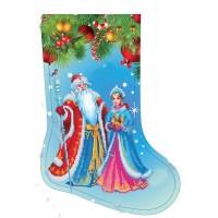 Новогодний Сапожек под вишивку бисером (схема или набор)