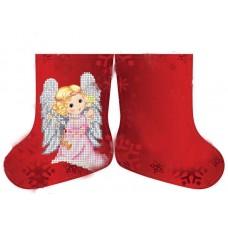 Новогодний сапожек (мини) Девочка Ангелочек