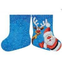 Новогодний сапожек (мини) Дед Мороз