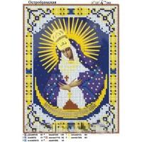 """Икона для вышивки бисером """"Богородица Остробрамская"""" (Схема или набор)"""