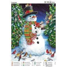 """Схема для вышивки бисером """"Снеговик"""" (Схема или набор)"""