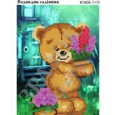 """Схема для вышивания бисером """"Мишка садовник"""" (Схема или набор)"""