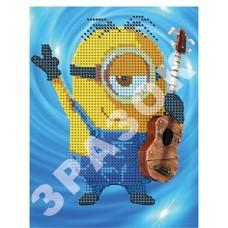 """Схема для вышивания бисером """"Миньон гитарист"""" (Схема или набор)"""