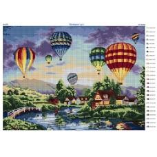 """Схема для вышивки бисером """"Воздушные шары"""" (Схема или набор)"""