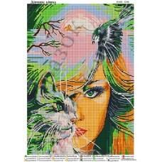 """Схема для вышивки бисером """"Девушка-кошка"""" (Схема или набор)"""