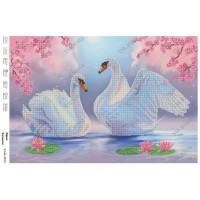 """Схема для вышивки бисером """"Верная любовь - Пара Лебедей"""" (Схема или набор)"""
