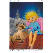 """Схема для вышивки бисером """"Ангел и котенок"""" (Схема или набор)"""