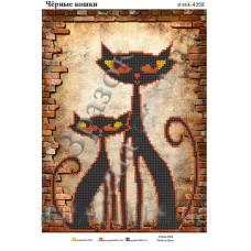 """Схема для вышивки бисером """"Чёрные кошки"""" (Схема или набор)"""