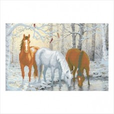 Лошади зимой (схема или набор)