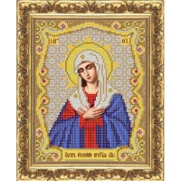 Схема иконы под вышивку бисером  «Умиление. Серафимо-Дивеевская икона Божией Матери» (схема или набор)