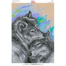 """Схема для вышивки бисером """"Нежность """"(пара волков) (Схема или набор)"""