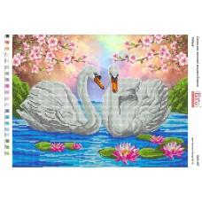 """Схема для вышивки бисером """"Лебеди"""" (Схема или набор)"""