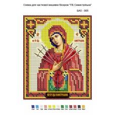 """Схема иконы под вышивку бисером """"Пресвятая Богородица Семистрельная. Умягчение злых сердец"""" (Схема или набор)"""